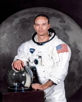 """Mirė skrydžio į Mėnulį """"Apollo 11"""" misijos narys Maiklas Kolinsas."""